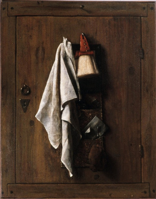 Самюэл ван Хогстратен. Натюрморт с полотенцем