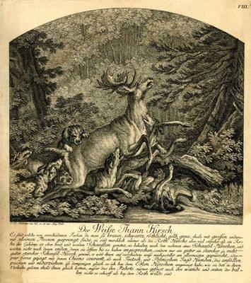 Johann Elias Ridinger. White stag
