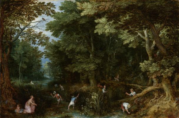 Jan Bruegel The Elder. Latona and Lycian peasants