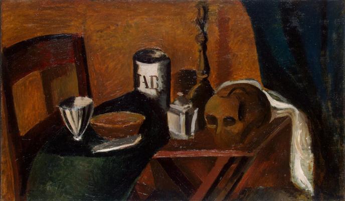 Andre Derain. Still life with skull