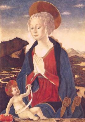 Алессио Бальдовинетти. Мария с младенцем