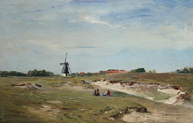 Иван Павлович Похитонов. Landscape with a windmill