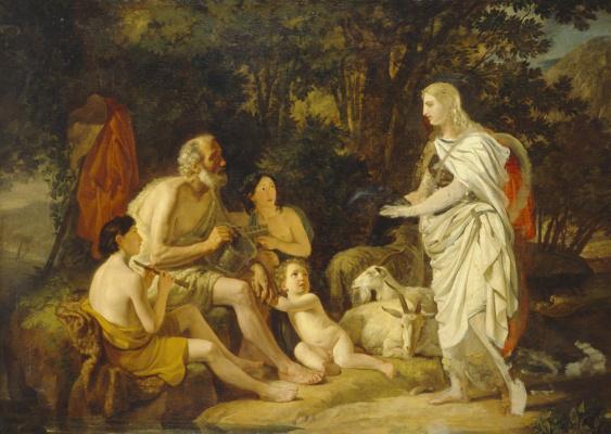 Karl Pavlovich Bryullov. Erminia and the shepherds
