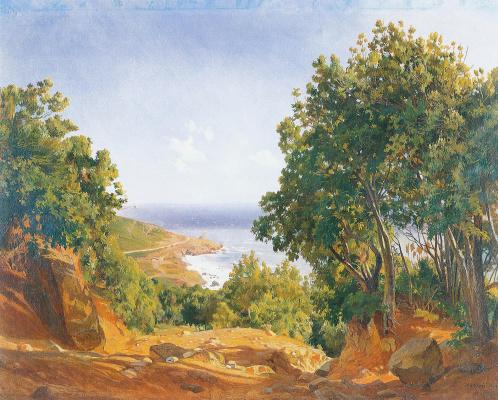 Nikolai Nikolaevich Ge. Livorno. Sea