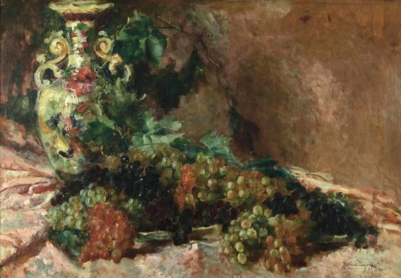 Alexey Vladimirovich Isupov. Still life with grapes.