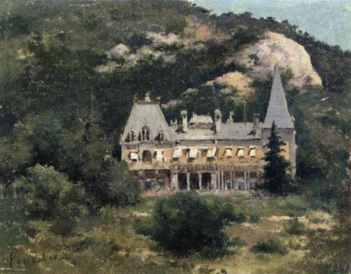 Joseph Evstafievich Krachkovsky. Massanra Palace. Sevastopol Art Museum. M.P. Kroshitsky.