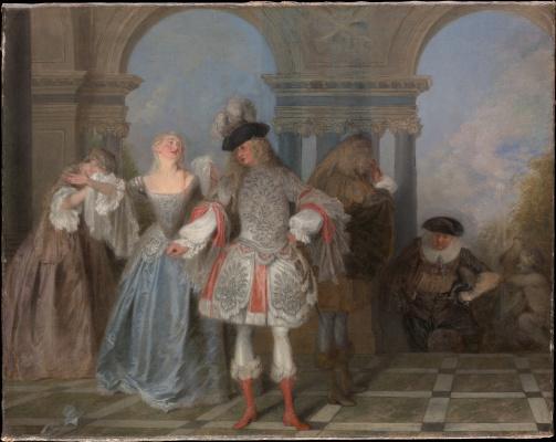 Antoine Watteau. French comedians
