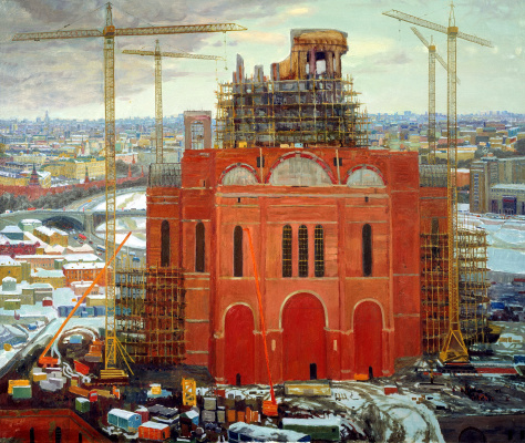 Oksana Pavlova. The Construction Of The Temple Of Christ The Savior