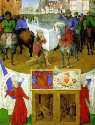 Жан Фуке. Святой Мартин и нищий