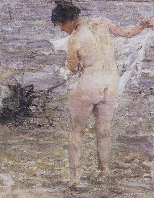 Nikolay Feshin. Bather
