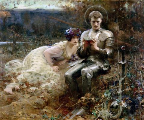 Артур Хакер. Искушение сэра Персиваля. 1894