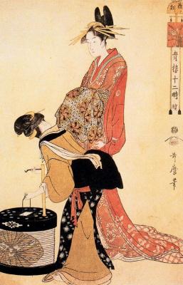 Kitagawa Utamaro. Hour of the dog