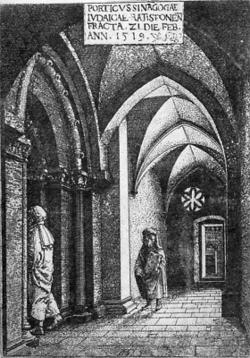 Albrecht Altdorfer. The portico of the synagogue in Regensburg