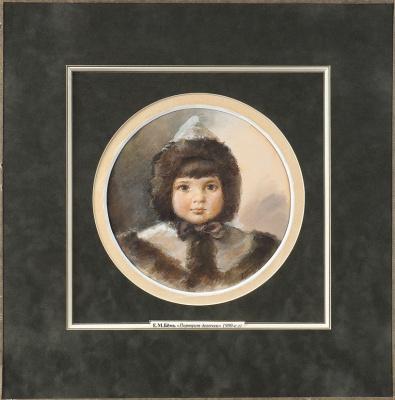 Елизавета Меркурьевна Бём. Девочка. 1900-е.  темпера