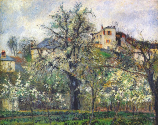 Эдвард Кертис. Огород и цветущие деревья весной в Понтуазе