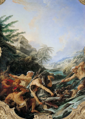 Francois Boucher. Hunting for crocodile