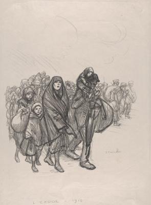 Theophile-Alexander Steinlen. Exodus 1915