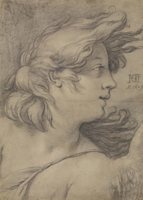 Hendrik Goltzius. Angel head 1609