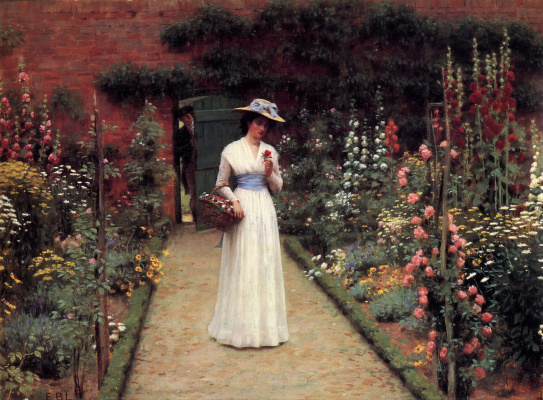 Edmund Blair Layton. Lady in the garden