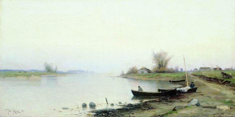 Julius Klever. The river