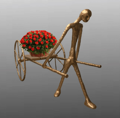 "(no name). Sculpture ""Flower Chariot"""