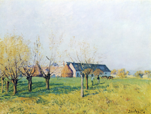 Alfred Sisley. The farm in Wellenkuppe