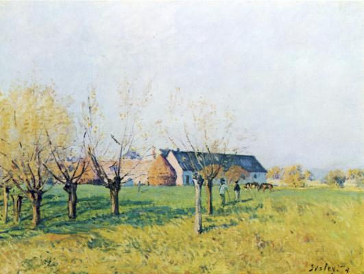 Alfred Sisley. The farm in Wellenkuppe