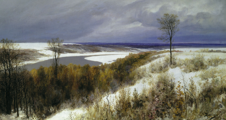 Vasily Dmitrievich Polenov. Early snow