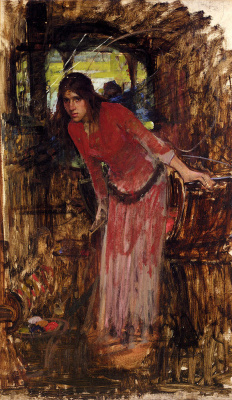 John William Waterhouse. Lady Of Shallotte. Sketch
