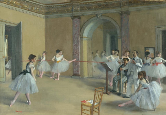Edgar Degas. Ballet class Opera on the street Pelletier