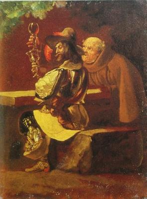 Карл Павлович Брюллов. Рыцарь с монахом (За кубком)