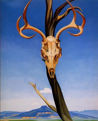 Georgia O'Keeffe. The deer skull