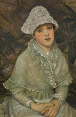 John Atkinson Grimshaw. My white rose
