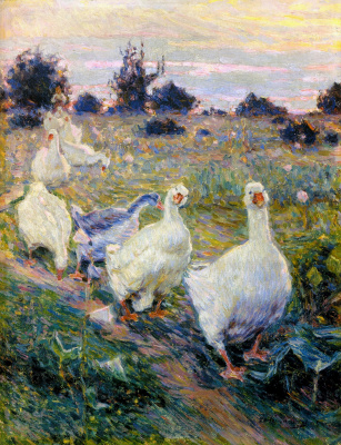 Кириак Константинович Костанди. Гуси . 1913