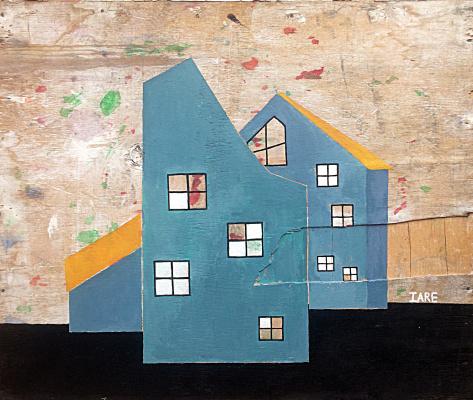 Ia RE. Blue house