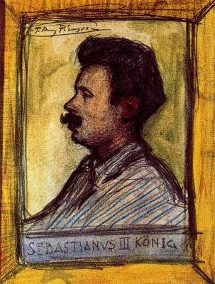 Pablo Picasso. A Portrait Of Sebastian Junyer Seen
