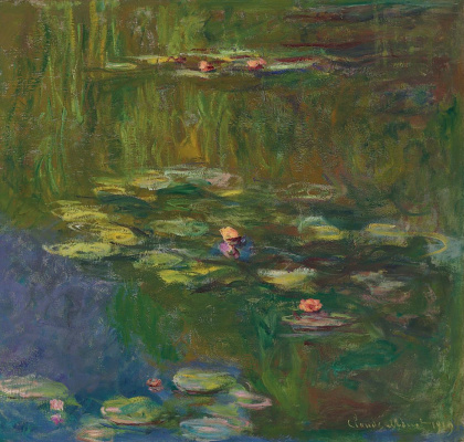 Claude Monet. A pond with water lilies