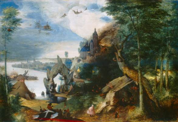 Pieter Bruegel The Elder. The temptation of St. Anthony