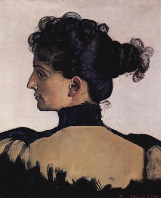 Ferdinand Hodler. Portrait of Bertha Jacques, wife of the artist