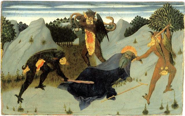 Сассетта. Святой Антоний-отшельник, терзаемый демонами