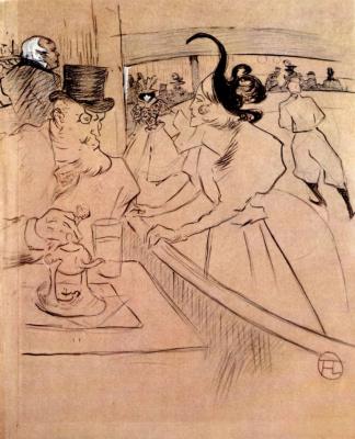 Henri de Toulouse-Lautrec. In the ice Palace: Professional beauty