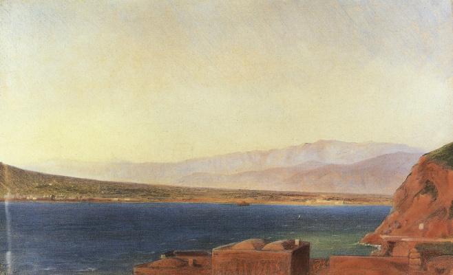 Nikolai Nikolaevich Ge. The Bay in Vico near Naples. Etude