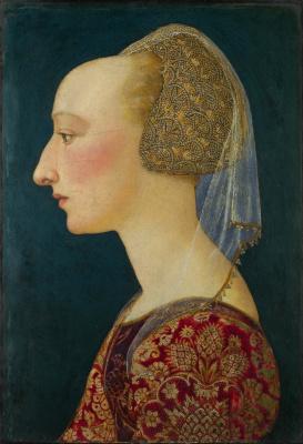 Флорентийский Итальянский. Портрет дамы в красном