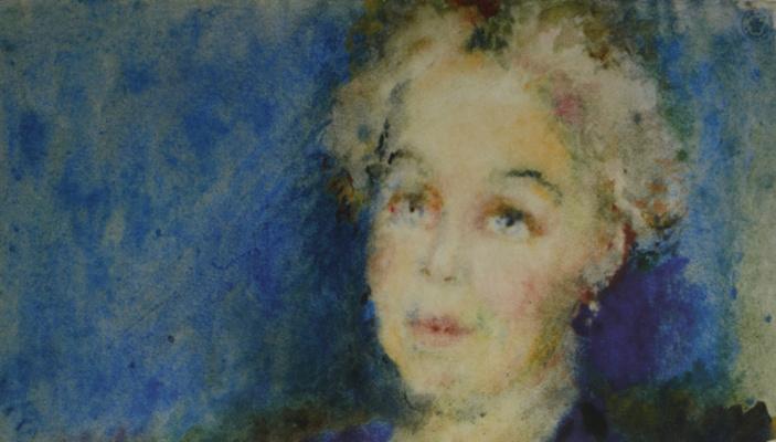 Артур Владимирович Фонвизин. Женский портрет. 1950-е
