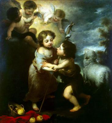 Бартоломе Эстебан Мурильо. Христос и Иоанн Креститель в детстве