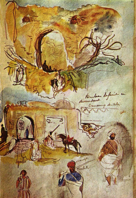 Eugene Delacroix. Wall Mekni (a sketch from the diary)