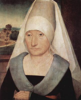 Hans Memling. Portrait of an elderly woman