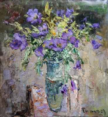 Tuman Art Gallery Tumana Zhumabayeva. Bellflowers
