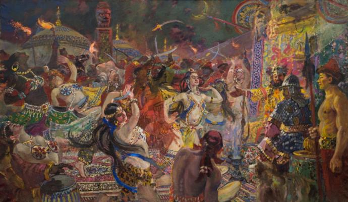 Alexander Mikhailovich Gerasimov. Polovtsian dances.