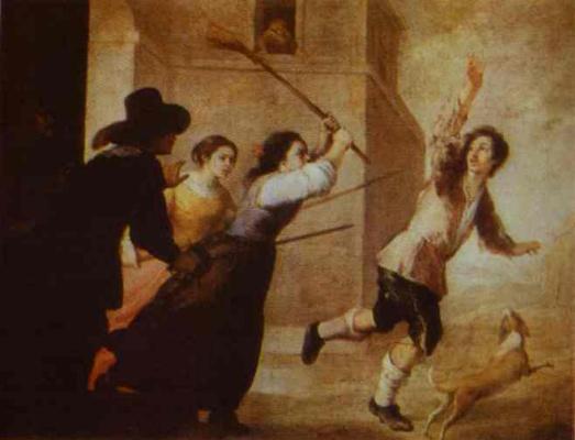 Bartolomé Esteban Murillo. The expulsion of the prodigal son
